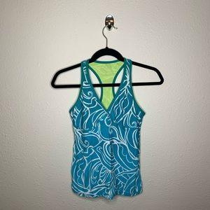 Athleta Blue Racerback Tankini Swim Top
